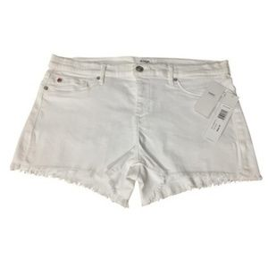 Hudson Amber Denim Raw Hem Shorts Warlike Size 31